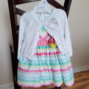 Carter's Dress and Sweater